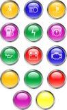 Boutons de tableau de bord d'automobile Photos libres de droits