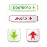 Boutons de téléchargement et de téléchargement Images libres de droits