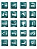 Boutons de transport illustration stock