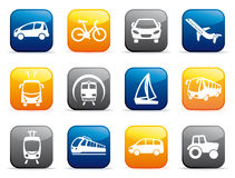 Boutons de transport Images libres de droits