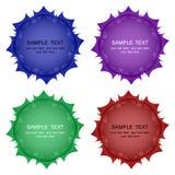Boutons de vecteur d'ensemble de couleurs différent Élément pour la conception illustration stock
