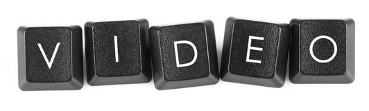boutons de Vidéo-clavier Photographie stock libre de droits