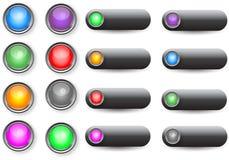 Boutons de Web Photo libre de droits