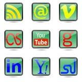 Boutons de Web. Photo libre de droits