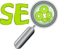 Boutons de Web avec le texte de SEO Images stock