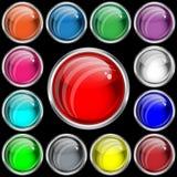 Boutons de Web avec un effet en verre Images libres de droits