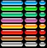Boutons de Web d'Aqua Photo libre de droits