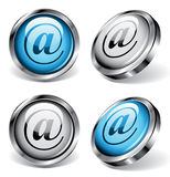 Boutons de Web d'email Images stock