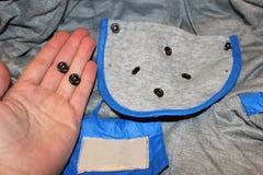 Boutons des vêtements Photo libre de droits
