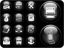 boutons du vecteur 3D Photographie stock libre de droits