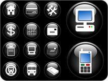 boutons du vecteur 3D Images libres de droits