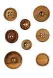 Boutons en bois Photographie stock libre de droits