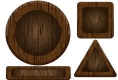 Boutons en bois illustration stock