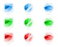 Boutons en cristal illustration de vecteur