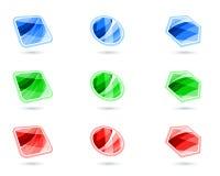 Boutons en cristal illustration stock
