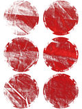Boutons en pastel d'éclat de lumière réglés Image libre de droits