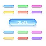 Boutons en verre au néon Photos libres de droits