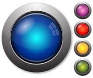 Boutons en verre colorés illustration de vecteur