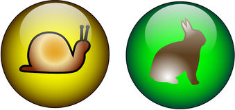 Boutons en verre de Web Image libre de droits