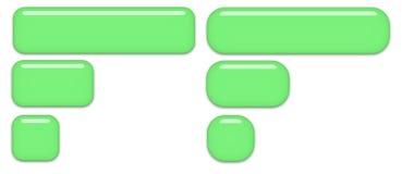Boutons en verre vert Photo stock