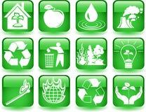 Boutons environnementaux Photos libres de droits