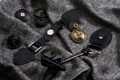 Boutons et accessoires. Photo stock