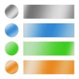 Boutons et drapeaux Photo stock