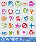 Boutons et icônes de symboles illustration de vecteur