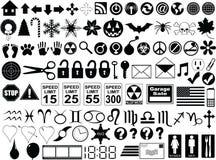 Boutons et signes Image libre de droits