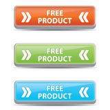 Boutons gratuits de produit Photographie stock