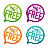 Boutons gratuits de 100% Vecteur du cercle Eps10 illustration stock