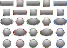 Boutons gris en métal Images libres de droits