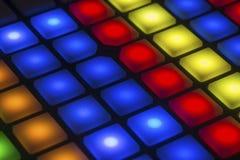 Boutons légers multicolores Images libres de droits