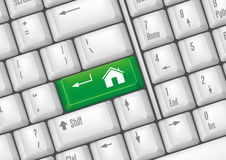 boutons à la maison Photo libre de droits