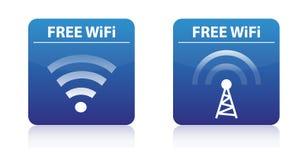 Boutons libres de wifi Images libres de droits