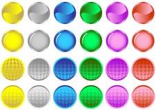Boutons lustrés colorés Image stock