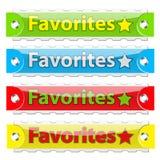 Boutons lustrés d'étiquette de favoris de vecteur. Photos libres de droits
