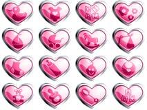Boutons lustrés de chéri pour une fille Photo stock