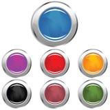 Boutons lustrés de Web Photo libre de droits