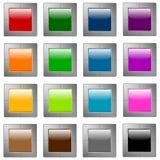 Boutons lustrés de Web Image libre de droits