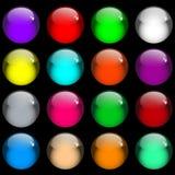 Boutons lustrés de Web de gel Image libre de droits