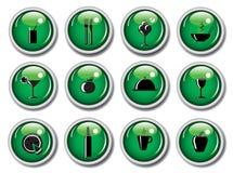 Boutons lustrés de Web - graphismes de nourriture Image libre de droits