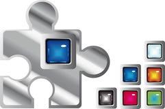 Boutons lustrés denteux de Web Images stock