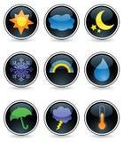 Boutons lustrés de temps Image libre de droits