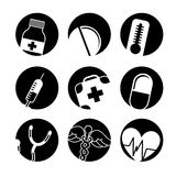 Boutons médicaux Images libres de droits