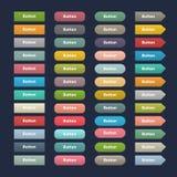 Boutons mats colorés de grand Web d'ensemble de vecteur Image libre de droits