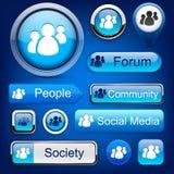 Boutons modernes haut-détaillés de forum. Images stock