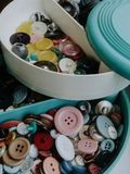 Boutons multicolores Photographie stock
