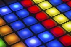 Boutons multicolores de contrôle Image libre de droits