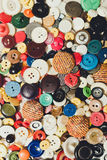 Boutons multicolores de vintage Photo libre de droits